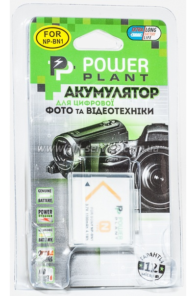 Aккумулятор PowerPlant Sony NP-BN1 (DV00DV1278)